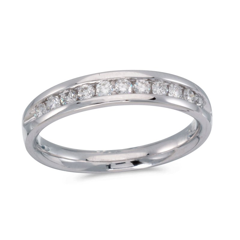 Color Merchants 14K White Gold Diamond Diamond Band Ring