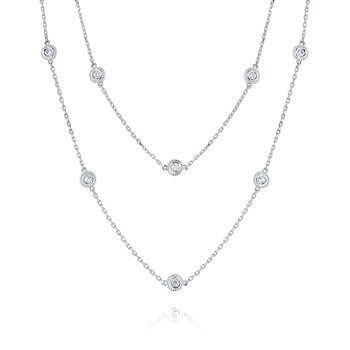14K Diamond by the Yard Necklace