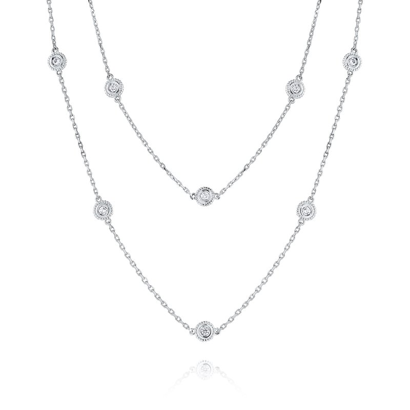 MAZZARESE Fashion 14K Diamond by the Yard Necklace