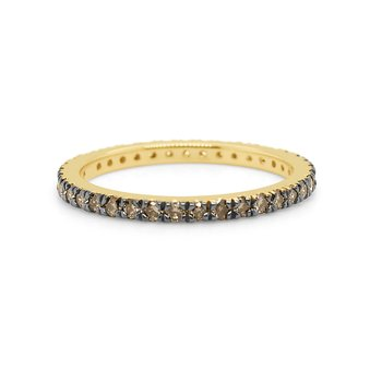 14k Gold and Champagne Diamond Eternity Band
