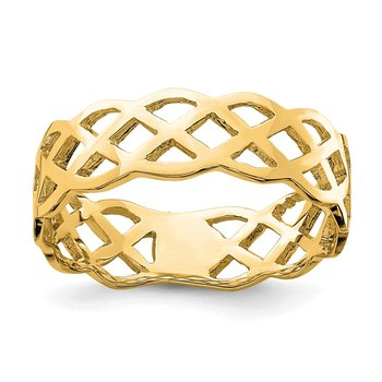 14K Polished Weave Ring