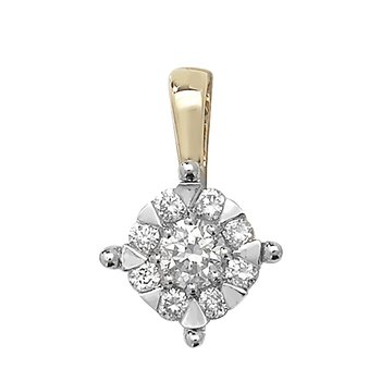 6.8mm 9Ct Yellow Gold 0.30Ct Diamond Pendant