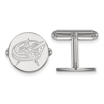Sterling Silver Columbus Blue Jackets NHL Cuff Links