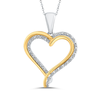 1/10 ct White Diamond Heart Pendant with Chain