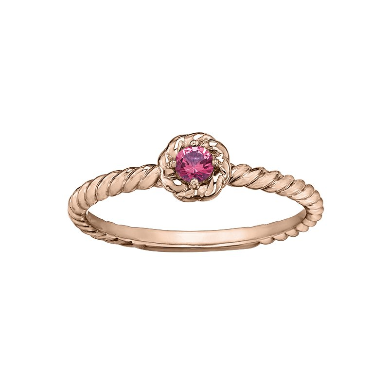 Lasting Treasures™ Pink Tourm. Ladies Solitaire