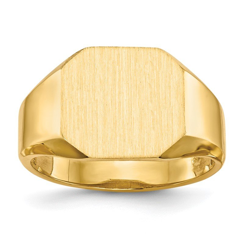 Quality Gold 14k 12.5x11.0mm Open Back Signet Ring
