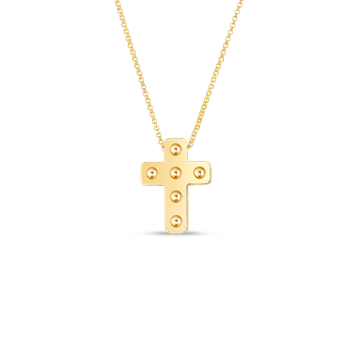 18KT POIS MOI CROSS NECKLACE