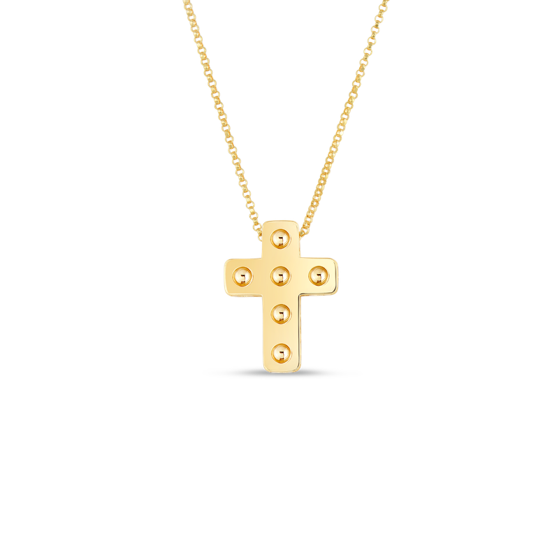 Roberto Coin 18Kt Pois Moi Cross Necklace