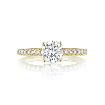 Petite Crescent Engagement Ring
