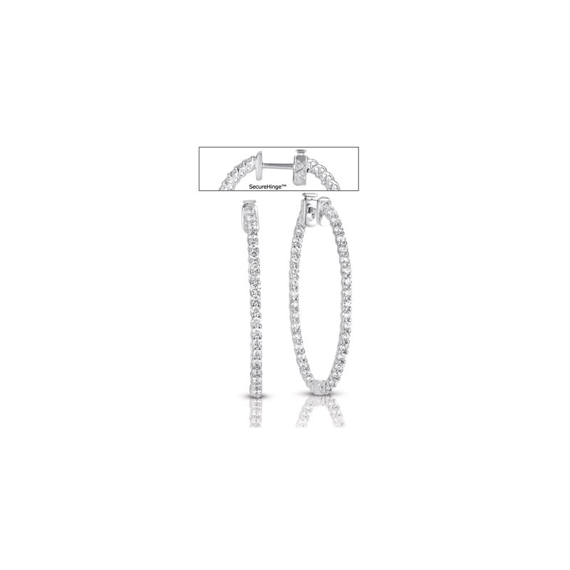 S. Kashi  & Sons 1.50  Securehinge Hoop Earring