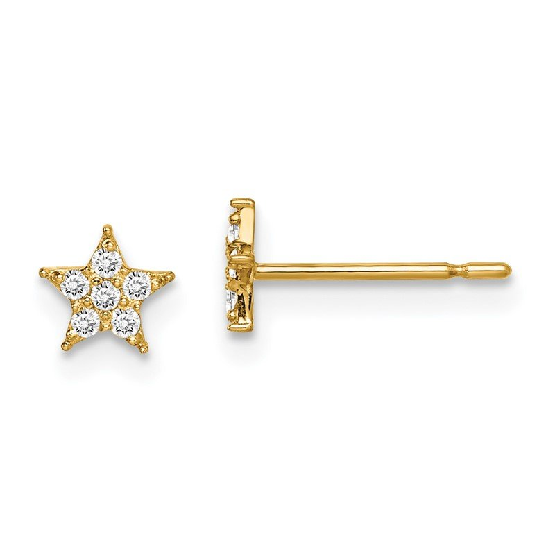 Quality Gold 14k Madi K Star CZ Earrings