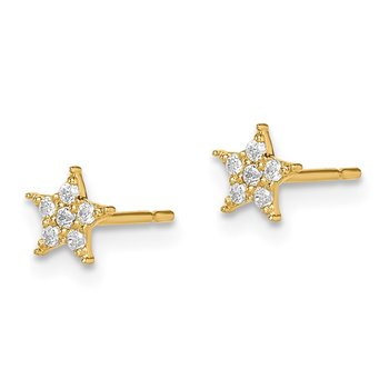 14k Madi K Star CZ Earrings