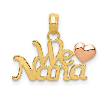 14k Two-Tone WE LOVE NANA Charm