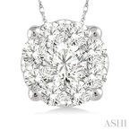 ASHI lovebright essential diamond pendant
