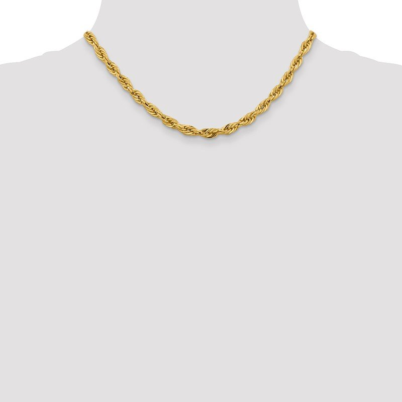 Quality Gold 14ky 5.4mm Semi-Solid Rope Chain