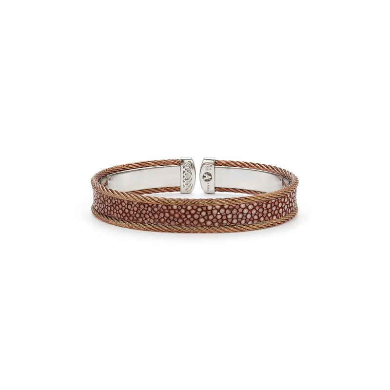 ALOR Bronze Cable & Brown Stingray Cuff