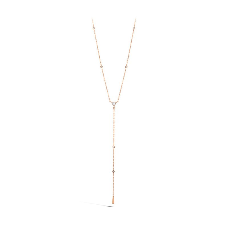 Hearts on Fire 0.42 ctw. Triplicity Triangle Lariat Necklace