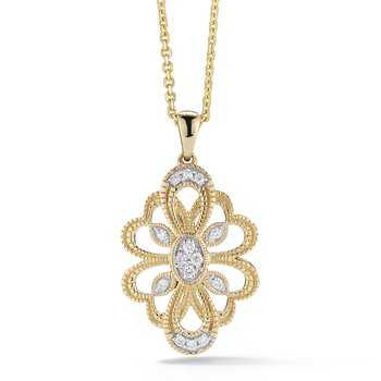Diamond Necklace Fleur de Lis Design