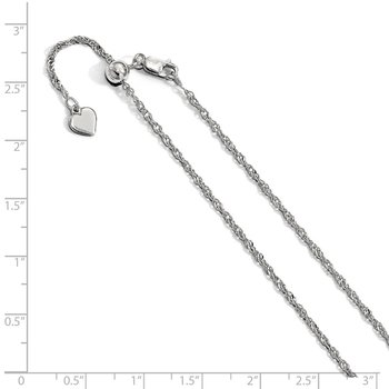 Leslie's Sterling Silver Adjustable 1.6mm Singapore Chain