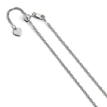 Leslie's Sterling Silver 1.6 mm Adjustable Singapore Chain
