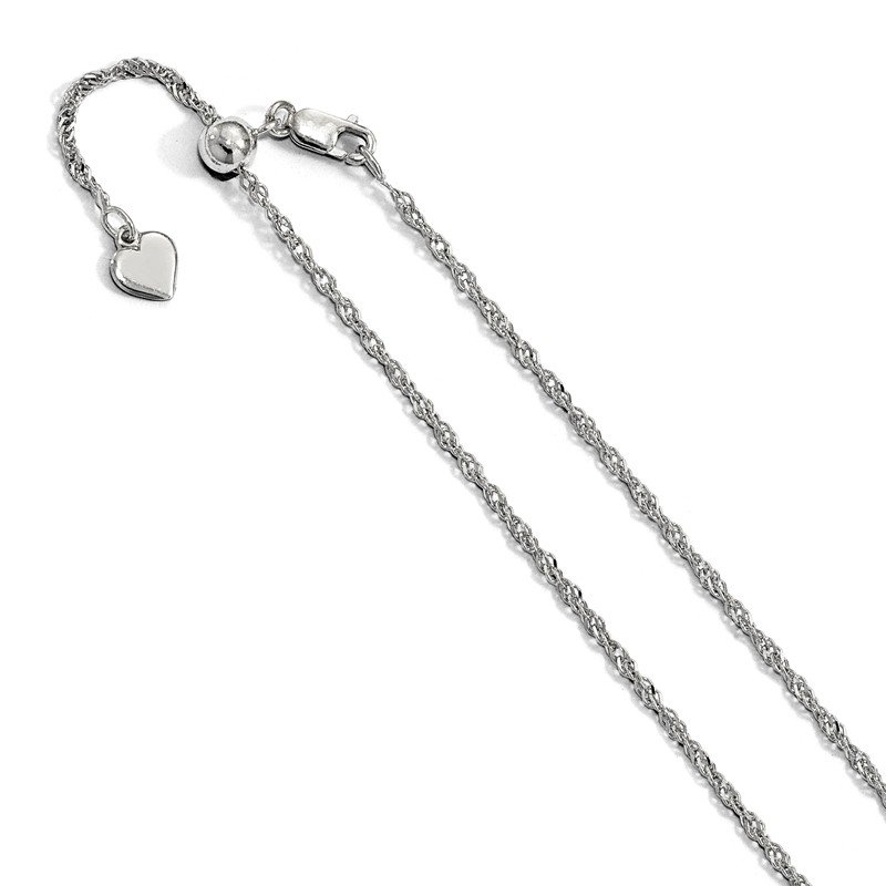 Leslie's Leslie's Sterling Silver Adjustable 1.6mm Singapore Chain