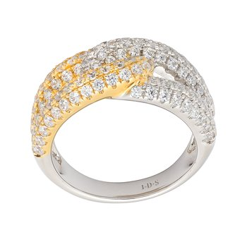 Diamond Two Tone Knot Ring