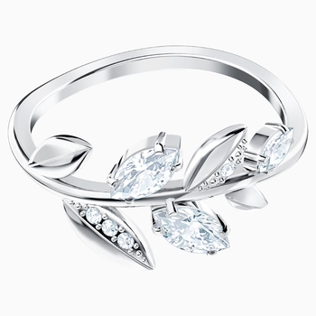 Mayfly Ring, White, Rhodium plated
