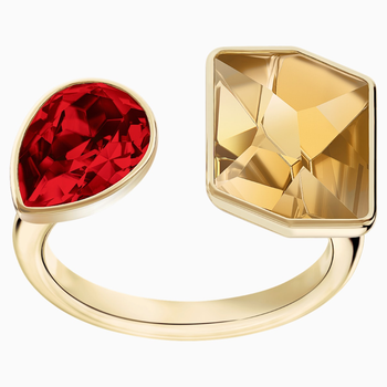 Prisma Ring, Multi-colored, Gold-tone plated