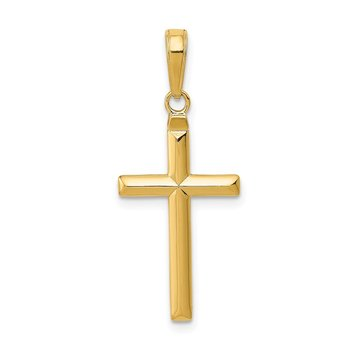 14k Reversible Latin Cross Pendant