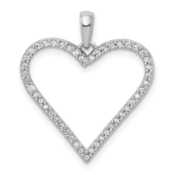 14k White Gold 1/6ct. Diamond Heart Pendant