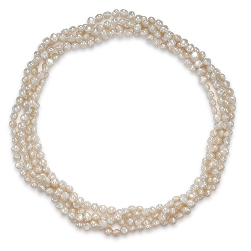 Mastoloni Pearls Endless Style Baroque Freshwater Pearl Strand Necklace
