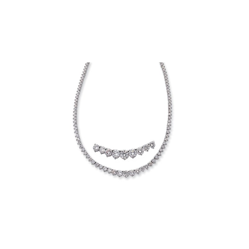 S. Kashi  & Sons White Gold Three Prong Neck