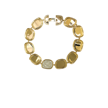 18KT GOLD GOLD BRACELET WITH DIAMONDS