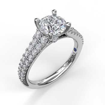 Double Row Graduated Engagement Ring