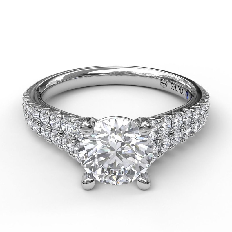 Fana Double Row Graduated Engagement Ring