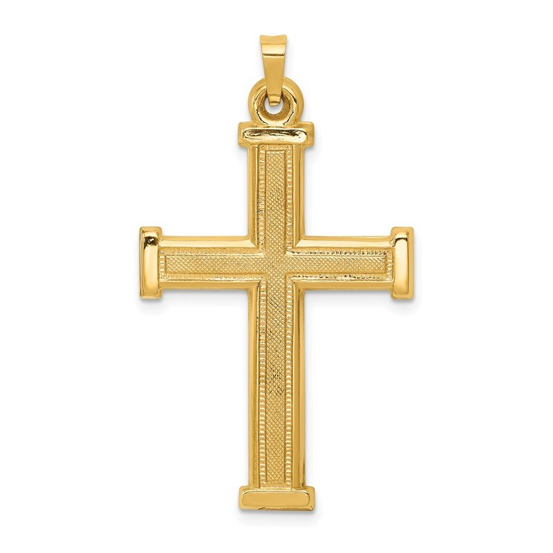 Quality Gold 14k Hollow Latin Cross Pendant