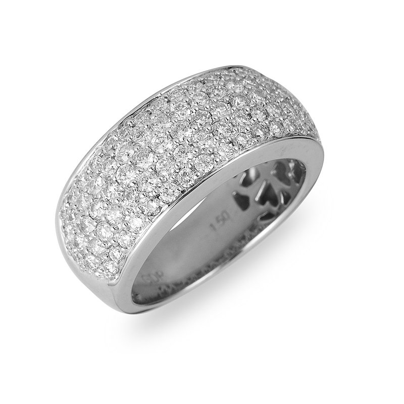 BB Impex 14K WG Diamond Pave Set Ring