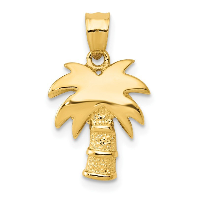 Quality Gold 14k Palm Tree
