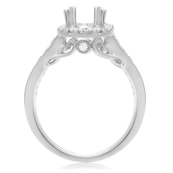 Tapered Shank White Gold Engagement Setting
