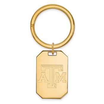 Gold-Plated Sterling Silver Texas A&M University NCAA Key Chain