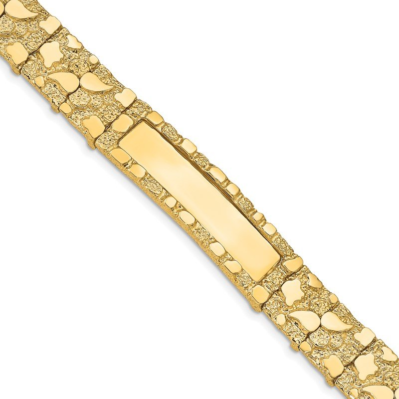 Quality Gold 14k 12.0mm Nugget ID Bracelet