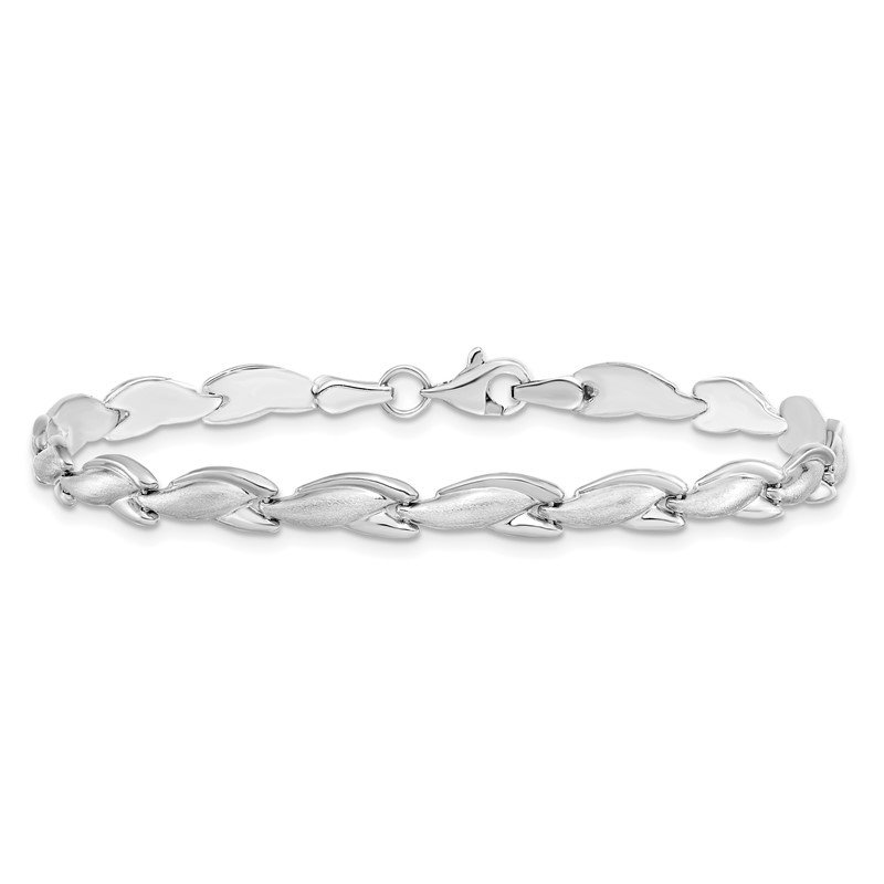 Leslie's Leslie's 14K White Gold Polished Bracelet
