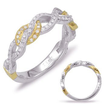 White & Yellow Gold Matching Band