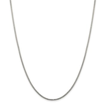 Sterling Silver 1.75mm Diamond-cut Round Box Chain