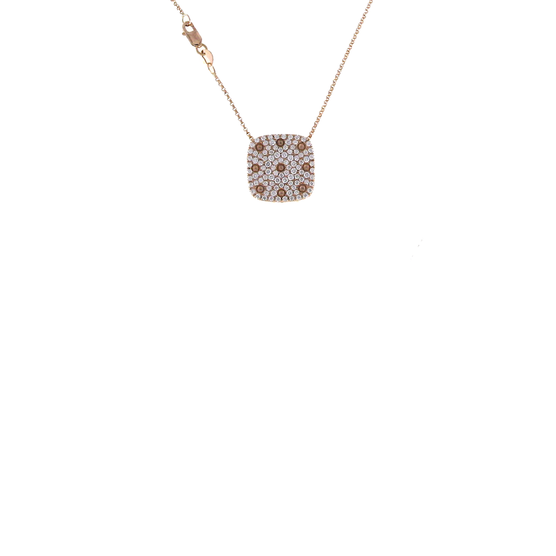 Roberto Coin  #25531 Of Pave Diamond Square Pendant