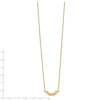 10k Tri-color Black Hills Gold Necklace