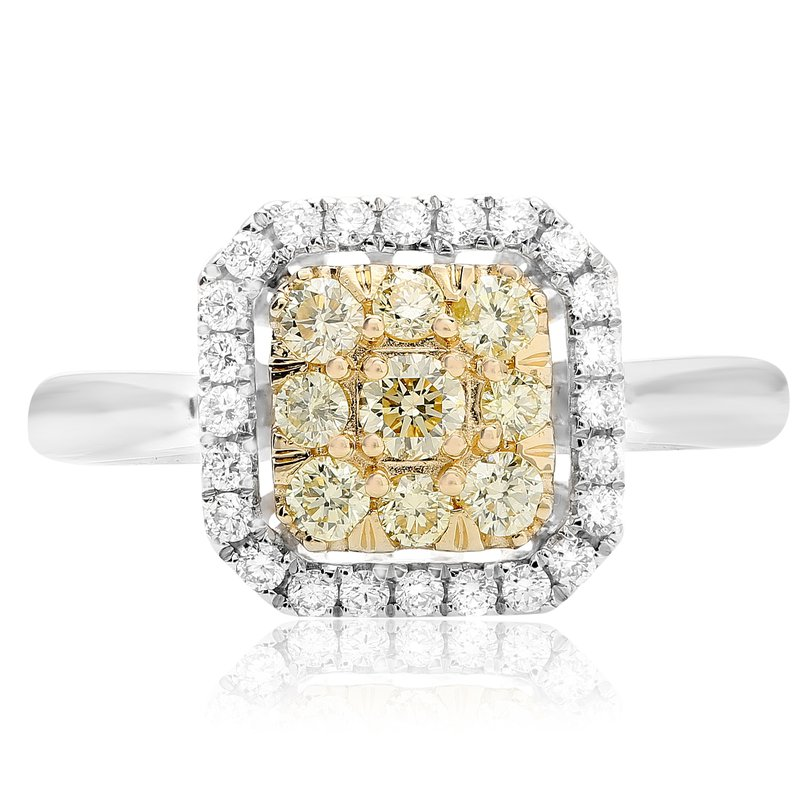 Roman & Jules Square Diamond Cluster Ring