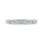 Essentials 10K White Gold 1/5 Ct Diamond Fashion Ring