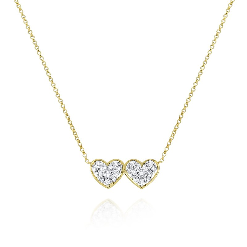 KC Designs 14K Gold and Diamond Double Heart Necklace