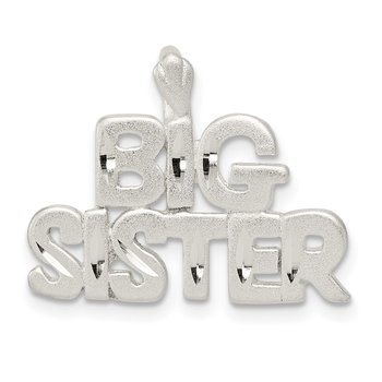 Sterling Silver Big Sister Charm